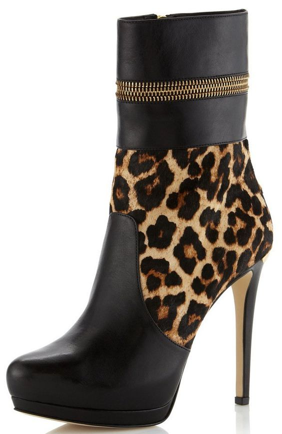 Chic Leopard Print Booties
