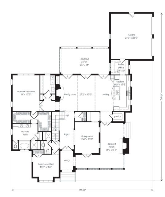 Great floor plan southern living house plans for Great southern homes floor plans