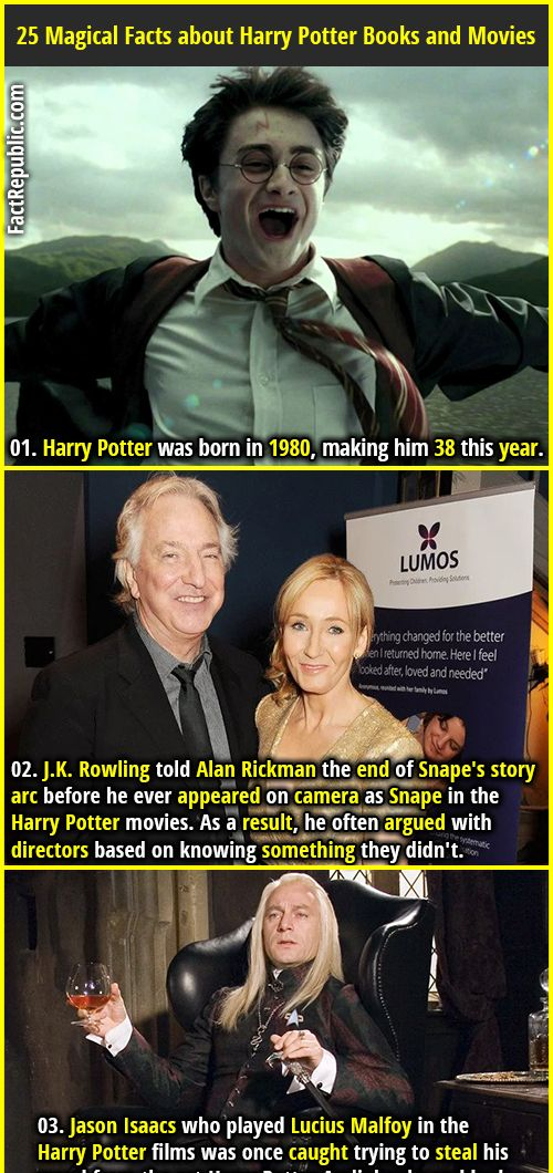 25 Magical Facts About Harry Potter Books And Movies Harry