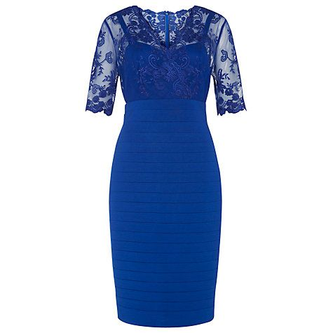 Buy Kaliko Lace and Jersey Dress, Cobalt Blue Online at johnlewis.com
