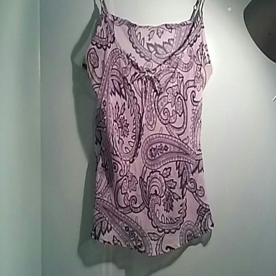Sheer lilac cami with pasley print Very sexy cami, please offer your price if you don't like my :) Intimates & Sleepwear Chemises & Slips