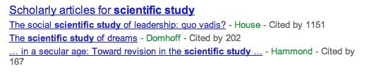 Scientific studies SERP - If your query falls into the arena of scientific study, then google will pick up and display the number of citations and display them.