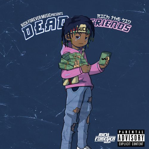 Rich The Kid Releases Visuals For His Dead Friends Single Anime Rapper Rapper Art Album Cover Art