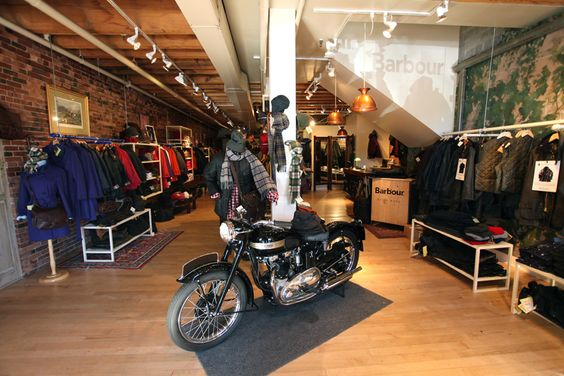 Man Cave Store Portland : Barbour in portland retail pinterest motorcycles