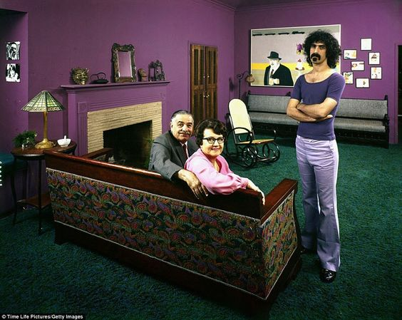 70's rock stars at home with their parents Frank Zappa