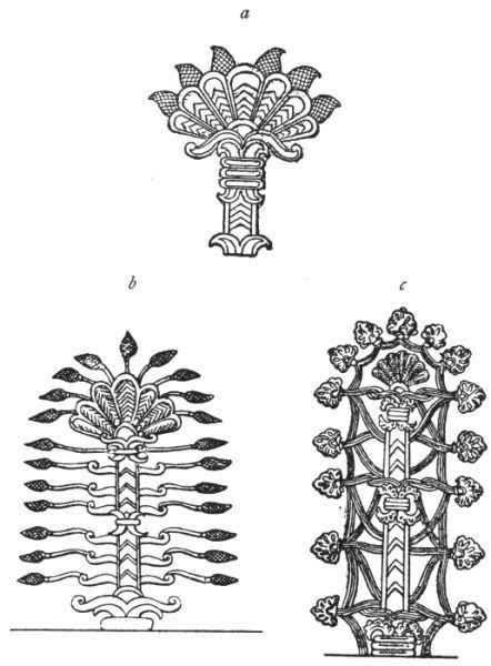 tree Assyrian bas-reliefs