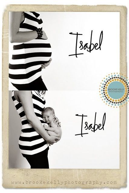 I think these before and after pregnancy pics are a great idea.  #