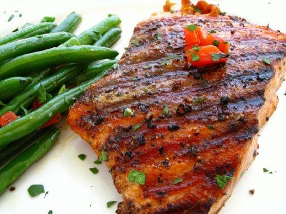 Glazed Salmon Steaks | Cooking recipes | Pinterest | Maple Glazed ...