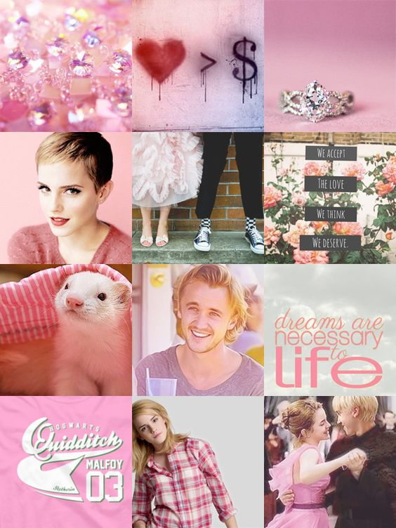Pink Dramione Aesthetic