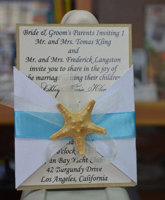 Beach Wedding Invitation Wedding Invitation by GretaArt on Etsy – Etsy Beach Wedding Invitations