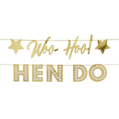 Bachelorette Party Decorations, Hen Party Decorations Bridal Shower Decorations Bride to Be I do Crew Banner Gold Bride to Be Banner