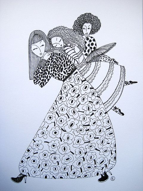 girls and I by blueshineart, via Flickr