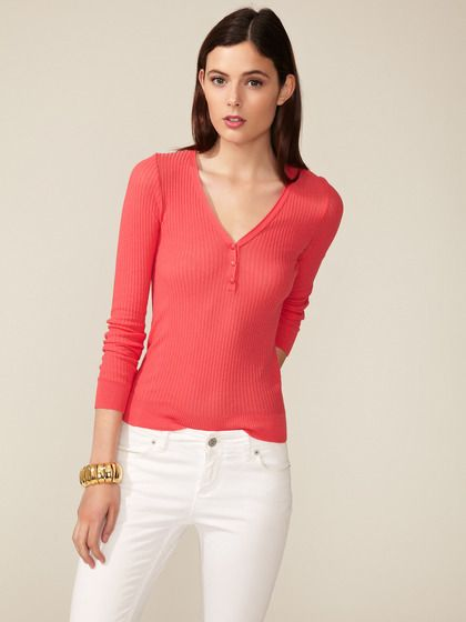 Ribbed Jersey Henley by Faconnable on Gilt.com