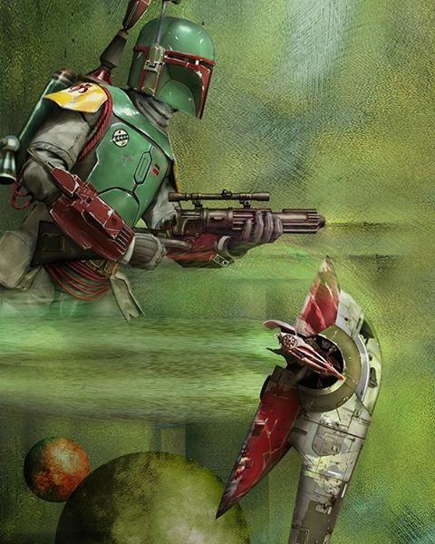 """Star Wars: Boba Fett and the Slave-1, sithchap: """" By Vincenzo Giordano #starwars…"""