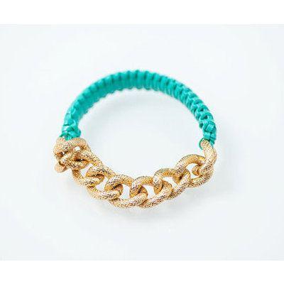 chain / wrap bracelet: Gold Chain Bracelets, Bfriend Bracelet, Bfrend Bracelet, Dream Closet, Color, Best Friend Bracelets, Gold Bracelets, Friendship Bracelets, Turquoise Gold