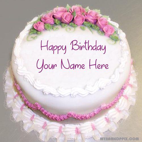 Specially Name Writing Birthday Cake Image My Name Pix Cards Happy Birthday Flower Cake Happy Birthday Cake Pictures Happy Birthday Cakes