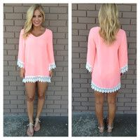 Allison Bikini Cover Up Tunic - NEON PINK