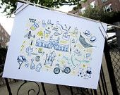 Couple's Map, hollydoodles etsy