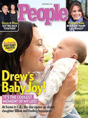 Drew Barrymore presentó a su pequeña bebé, Olive (+Foto)