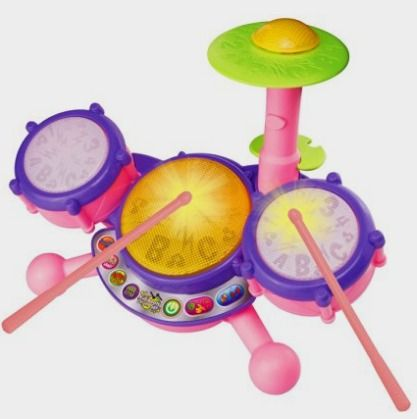 VTech KidiBeats Drum Set - Pink - Online Exclusive: Toys Amazon http://amzn.to/2cAVIws