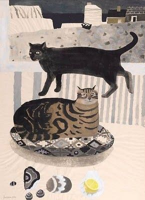 Mary Feddon's  cats by the sea