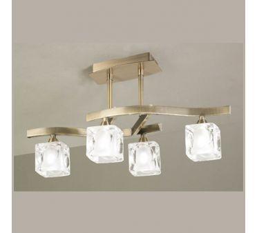 luminaire plafonnier laiton gla on 4 lampes lighting. Black Bedroom Furniture Sets. Home Design Ideas