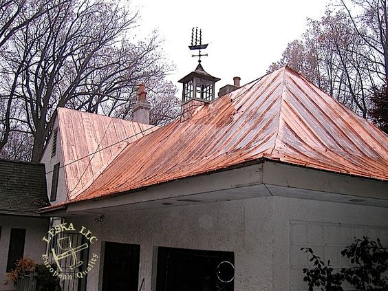 Customer reviewed many materials and decided on a complex for Copper standing seam roof