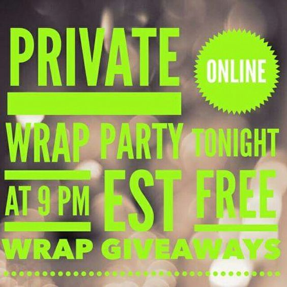 Get in touch with me personally on Facebook for an invite - Private Online Party - Win Freebies