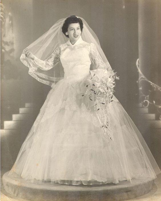 vintagebrides: невестата на 1950 г.