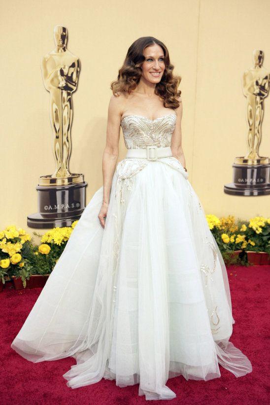 Sarah Jessica Parker weißes Märchenkleid Christian Dior