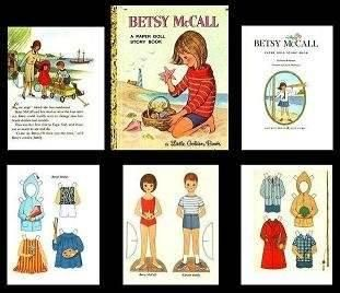 Little Golden Book, Betsy McCall A Paper Doll Story Book   Mary's Dollhouse Miniatures