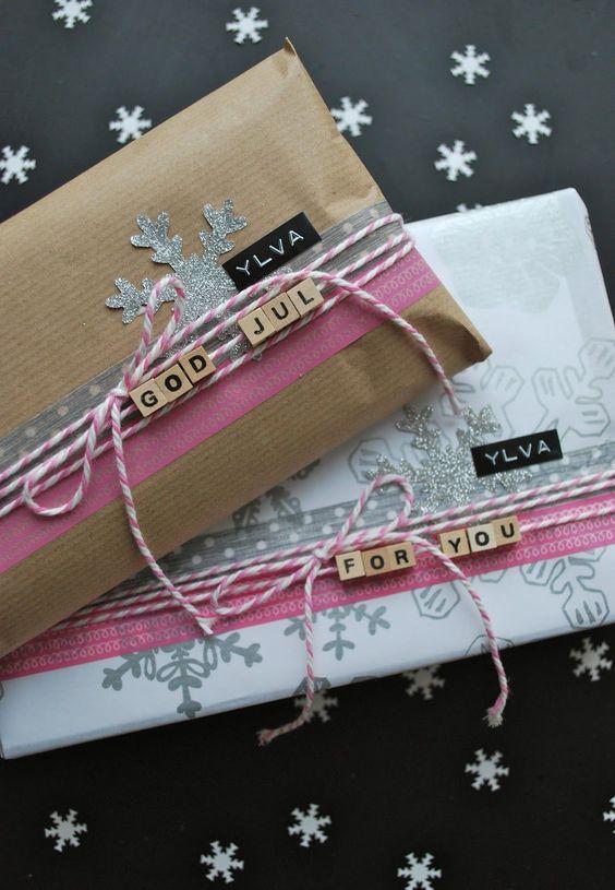 Verpacken, Geschenke Verpacken and Buchstaben on Pinterest