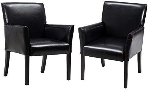 Casart Leather Reception Guest Chairs Set Office Executive Side