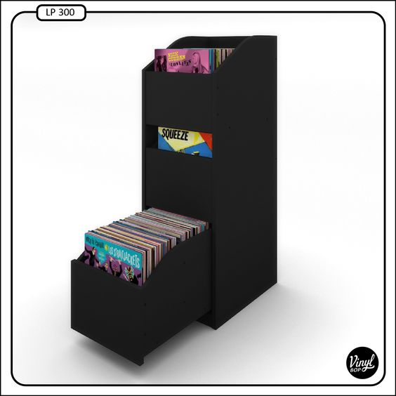 vinyl bop record shelves holds 280 mueble con