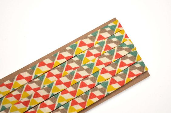 "bowties - double fold, bias tape - 3 yards, 3/8"" wide"
