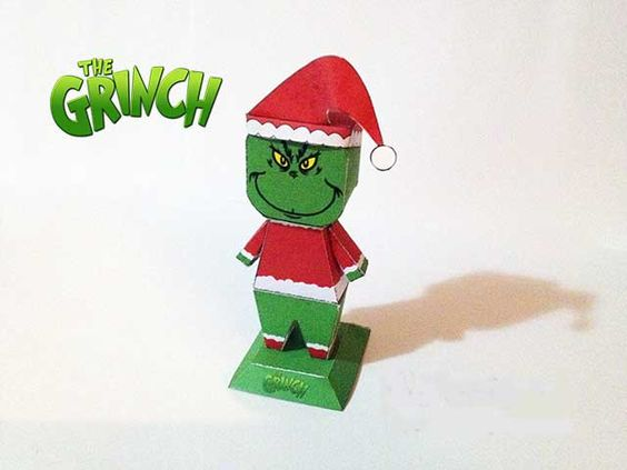 How the Grinch Stole Christmas! - Grinch Free Papercraft Download - http://www.papercraftsquare.com/how-the-grinch-stole-christmas-grinch-free-papercraft-download.html#Grinch, #HowTheGrinchStoleChristmas