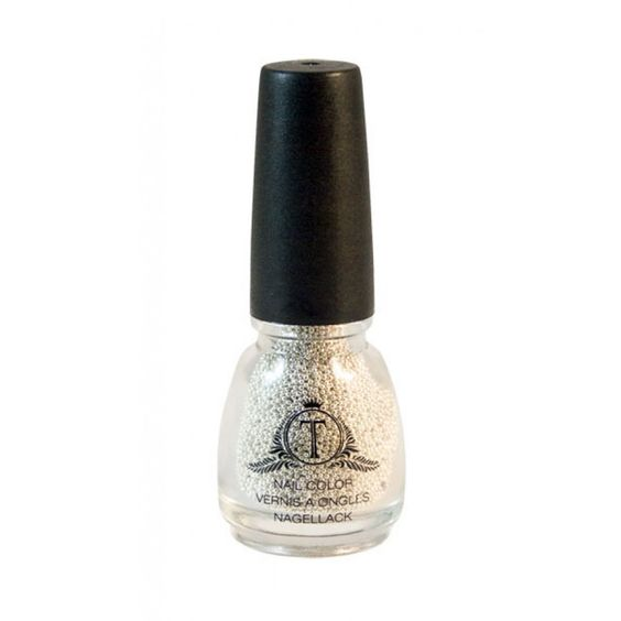 Nail Caviar Pearls silver