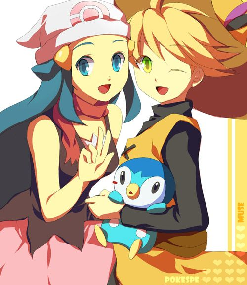 Platinum, Yellow, and Piplup #pokespe