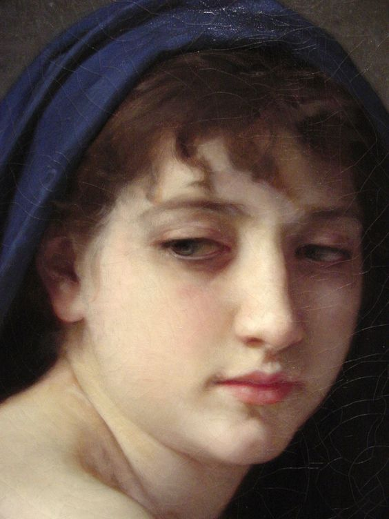 """Baigneuse Accroupie"" - William Adolphe Bouguereau - 1825/1905 - French Painter."