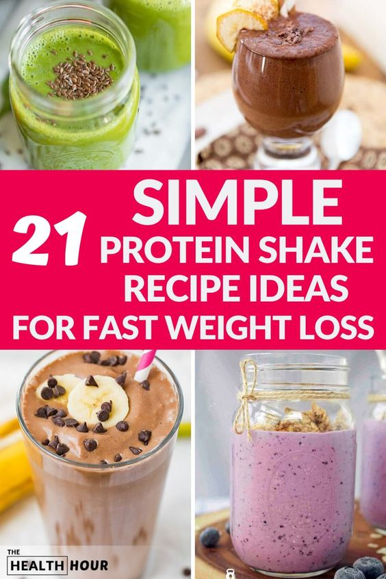21 Unique Protein Shake Recipes for Fast Weight Loss - The Health Hour