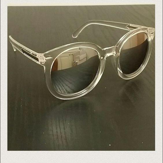 Clear silver round vintage Unisex sunglasses Clear silver round vintage Unisex sunglasses Accessories Sunglasses