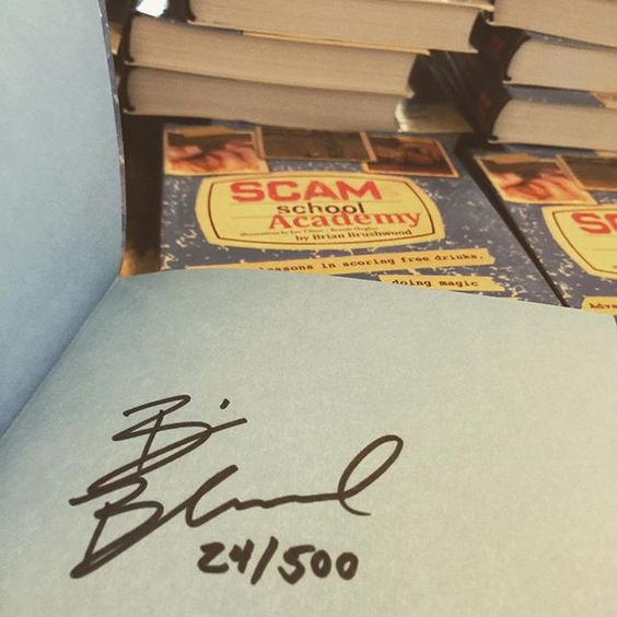 So STOKED about the new Scam School book!  Signing and numbering the first 500.  FRIDAY by scamschoolbrian
