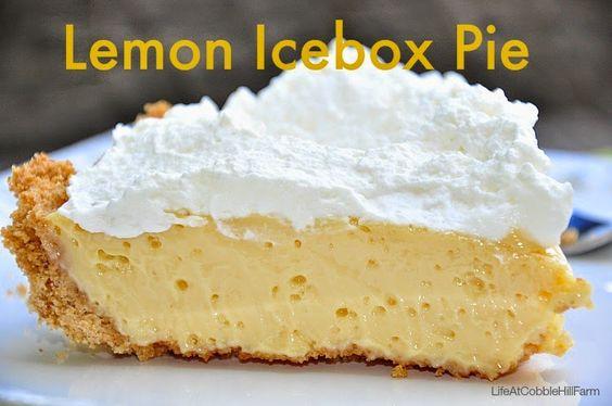Life At Cobble Hill Farm: Lemon Icebox Pie