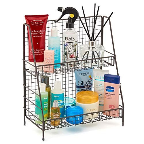 Ezoware 2 Tier Countertop Rack Kitchen Bathroom Organizer Storage