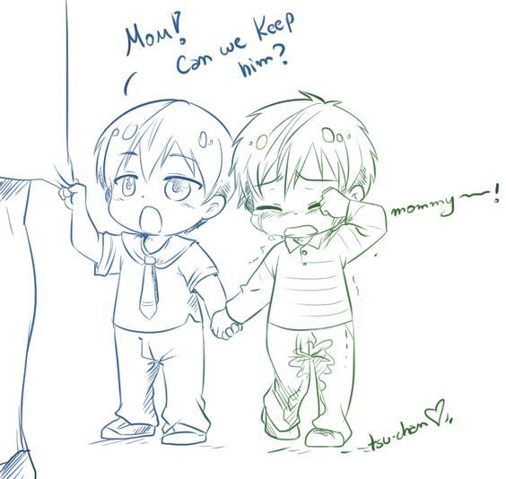 Makoto gets lost in the shop and Haru finds him ...  Free! - Iwatobi Swim Club, haruka nanase, haru nanase, haru, free!, iwatobi, makoto tachibana, makoto, tachibana