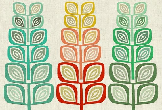 I'm so into the Scandinavian leaf motif lately and this is such a bright and cheery interpretation!