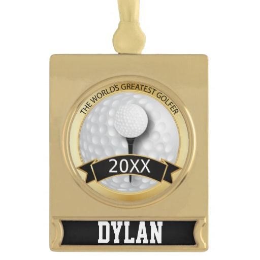 World's Greatest #Golfer   #Personalize   #Classy #zazzlebesties #Ornament #zazzle #Christmas #gift