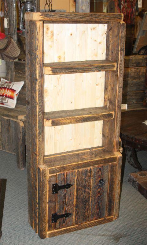 Barnwood Bookcase with Door - Durango Trail Rustic Furniture, Bragg Creek,  Calgary, Alberta