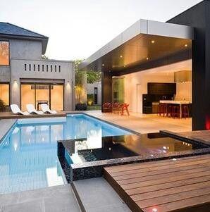 I love the indoor/outdoor space