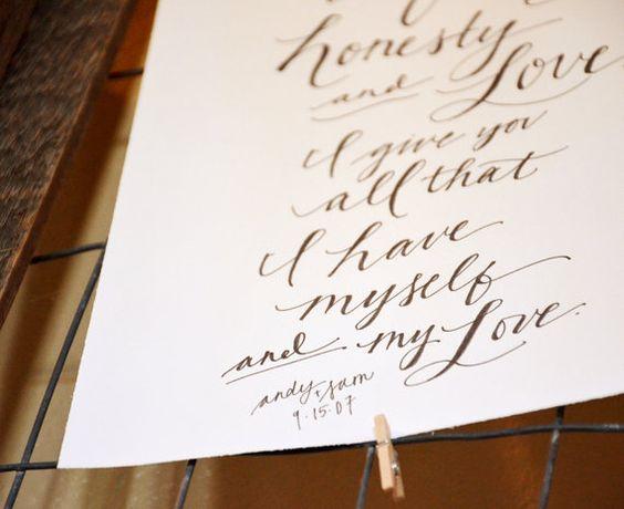 Upgrade Word Count: Handwritten Wedding Vows by YourNewFriendSam